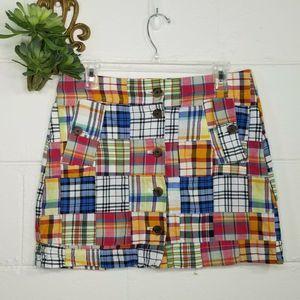 J Crew Factory Madras Mini Skirt Patchwork 4